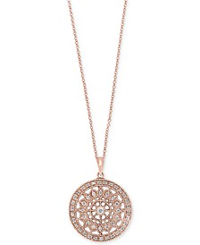 EFFY® Diamond Disc Pendant Necklace (1/4 ct. t.w.) in 14k White, Rose, or Yellow Gold