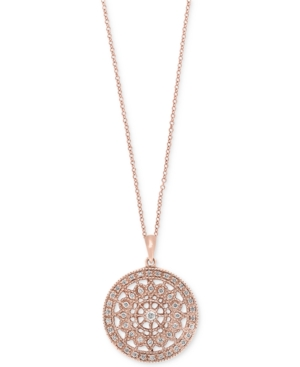 Effy Diamond Disc Pendant Necklace (1/4 ct. t.w.) in 14k White