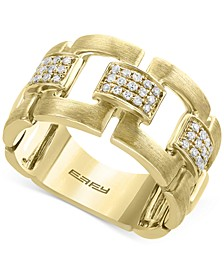 D'Oro by EFFY® Diamond Link Statement Ring (1/5 ct. t.w.) in 14k Gold