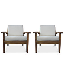 Bradden Set of 2 Club Chairs, Quick Ship