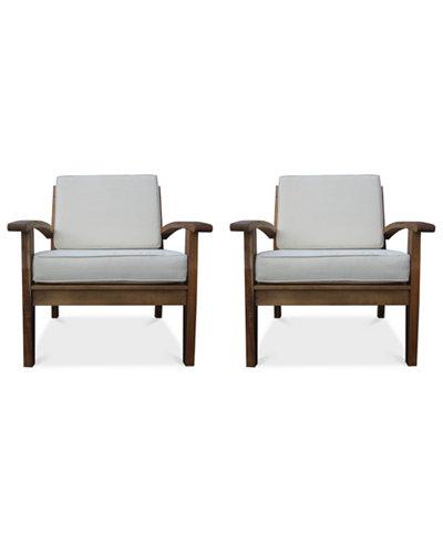 Bradden Set of 2 Club Chairs, Quick Ship