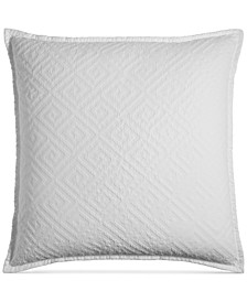 Greek Key Cotton Quilted European Sham, Created for Macy's