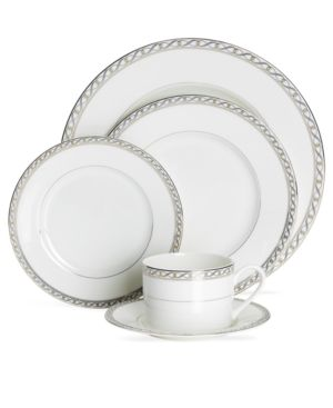 Mikasa Dinnerware, Infinity Band 5 Piece Place Setting