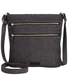 2592fc1c60622 Vera Bradley Iconic Triple-Zip Denim Hipster Crossbody