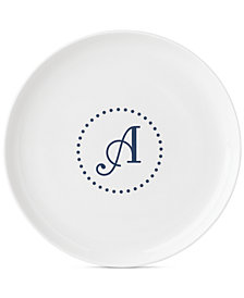 Lenox Navy Dots Monogram Accent Plate