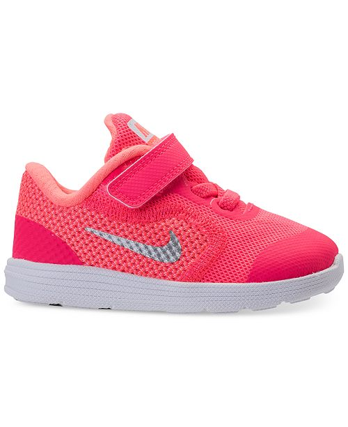 50ccffc3c7e ... Nike Toddler Girls  Revolution 3 Stay-Put Closure Running Sneakers from Finish  Line ...