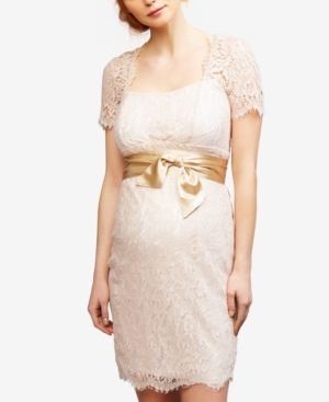 Vintage Style Maternity Clothes Seraphine Maternity Lace Sheath Dress $199.97 AT vintagedancer.com