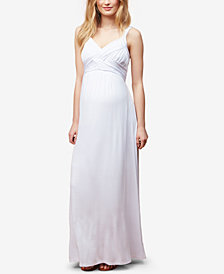 Motherhood Maternity Cotton V-Neck Maxi Dress