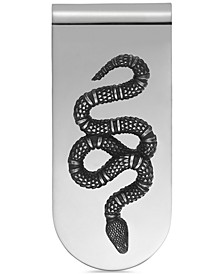Men's Sterling Silver Snake Motif Money Clip