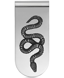 Gucci Men's Sterling Silver Snake Motif Money Clip YBF45690400100U