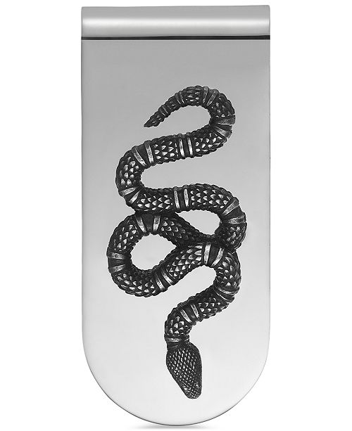 40f97b933e34 Gucci Men's Sterling Silver Snake Motif Money Clip YBF45690400100U ...