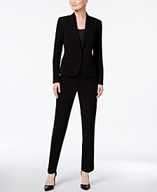 Executive Collection Single-Button Pantsuit, Created for Macy's