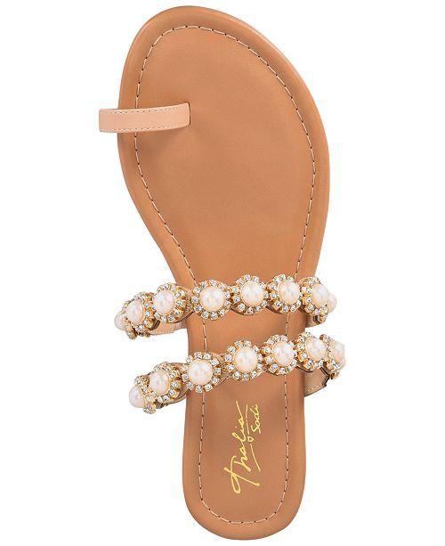 cf90b1791b2 ... Thalia Sodi Joya Toe-Ring Flat Sandals