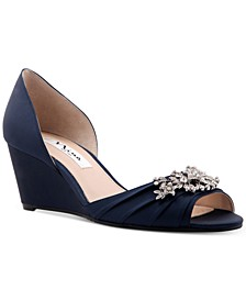 Emiko Embellished Evening Wedges