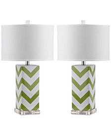 Safavieh Set of 2 Chevron Ceramic Table Lamps