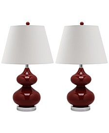 Set of 2 Eva Double Gourd Table Lamps