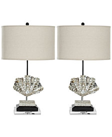 Safavieh Set of 2 Silver Shell Table Lamps