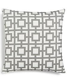 "Hallmart Collectibles Gray Geo-Print 18"" Square Decorative Pillow"