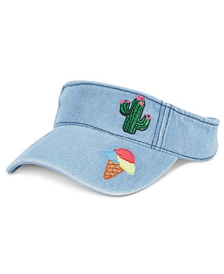 Celebrate Shop Denim Visor with Patches