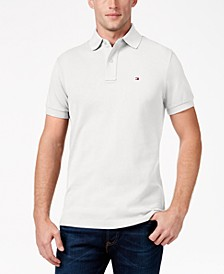 Men's Big and Tall Solid Classic Fit Ivy Polo
