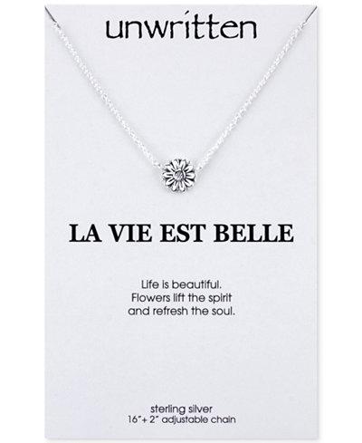 Unwritten sunflower pendant necklace in sterling silver necklaces unwritten sunflower pendant necklace in sterling silver aloadofball Gallery