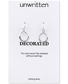 Textured Twist Drop Earrings in Sterling Silver