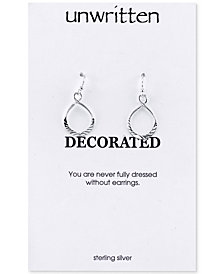 Unwritten Textured Twist Drop Earrings in Sterling Silver