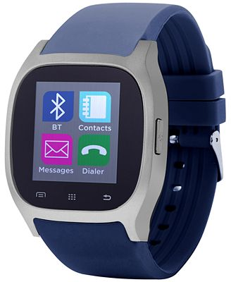 iTOUCH Unisex Navy Rubber Strap Smart Watch 46x45mm ITC3360S590-102