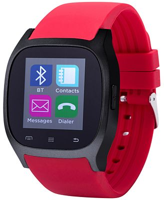 iTouch Unisex Red Rubber Strap Smart Watch 46x45mm ITC3360BK590-085