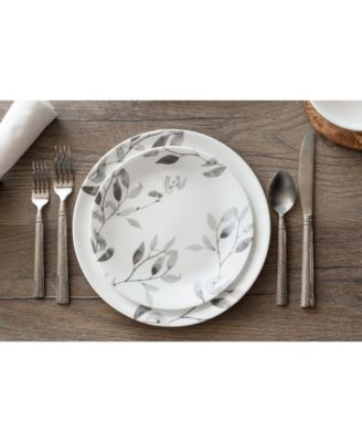 Corelle Boutique Misty Leaves 12-Piece Dinnerware Set - Dinnerware - Dining u0026 Entertaining - Macyu0027s  sc 1 st  Macyu0027s : corelle 12 piece dinnerware set - pezcame.com
