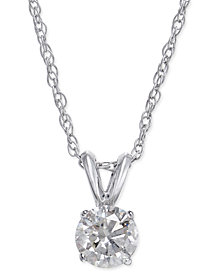 Diamond Pendant in 14k White Gold (1/2 ct. t.w.)