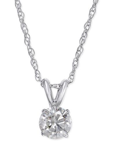 Diamond Pendant in 14k White Gold (1/2 ct. t.w.)