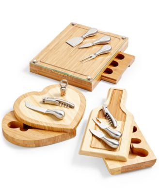 Toscana® by Concerto Glass Top Cutting Board with Cheese Tools