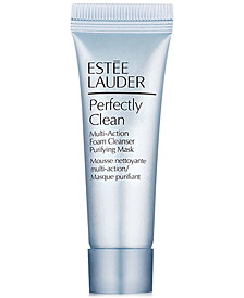 Receive a FREE Deluxe Perfectly Clean Foam Cleanser Purifying Mask with any $55 Estée Lauder purchase