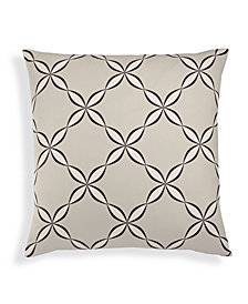 Charter Club Damask Designs Cotton Outlined Geo European Sham, Created for Macy's