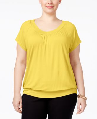 JM Collection Plus Size Blouson Top, Only at Macy's