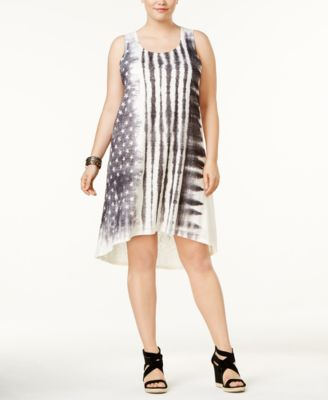 ING Plus Size Tank Stars and Stripe-Print Dress