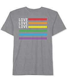 Hybrid Men's Love Love Love PRIDE Graphic  T-Shirt