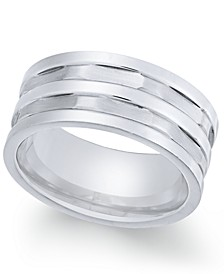 Men's Stainless Steel Multi-Row Cut Band