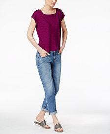 Eileen Fisher Boxy Top & Boyfriend Jeans