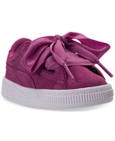 Puma Toddler Girls' Suede Heart Casual Sneakers from Finish Line