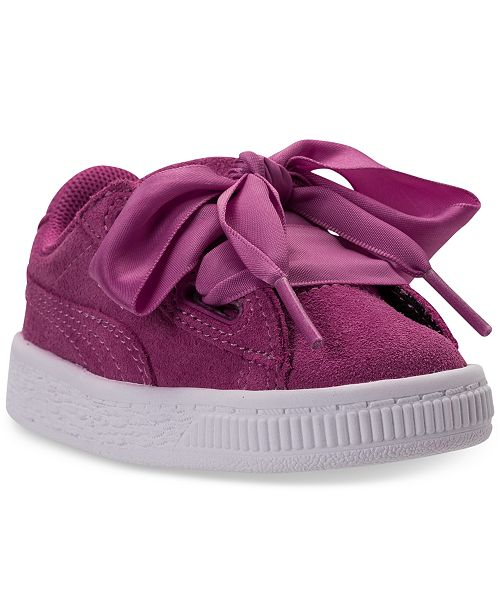 8eefed3b39c80a Puma Toddler Girls  Suede Heart Casual Sneakers from Finish Line ...