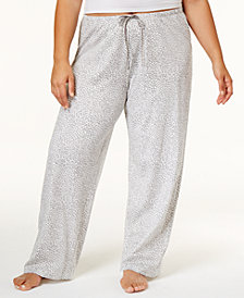 HUE® Plus Size Rita Cheetah Cotton Pajama Pants