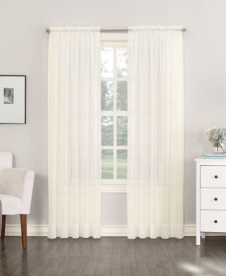 """No. 918 Sheer Voile 59"""" x 108"""" Rod Pocket Curtain Panel"""