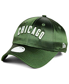 New Era Women's Chicago Cubs Satin Team Charmer 9FORTY Strapback Cap