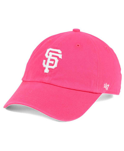 '47 Brand San Francisco Giants Pink/White CLEAN UP Cap