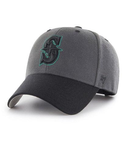 '47 Brand Seattle Mariners 2Tone Charcoal/Black Pop MVP Cap