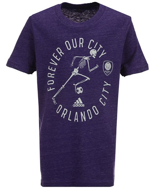 adidas Orlando City SC To The Grave T-Shirt, Big Boys (8-20)