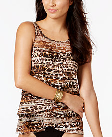 Miraclesuit Wildside Mirage Underwire Tiered Tankini Top