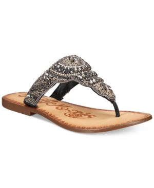 Naughty Monkey Anniston Embellished Thong Sandals Women
